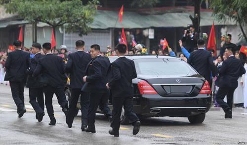 како се чува северно корејскиот претседател при посетата на Виетнам