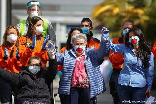 пациенти заминуваат од болница од Мадрид