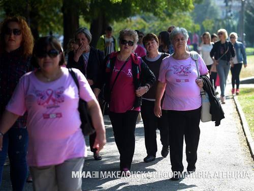 Напред розово  во организација на Здружението за борба против рак на дојка Борка