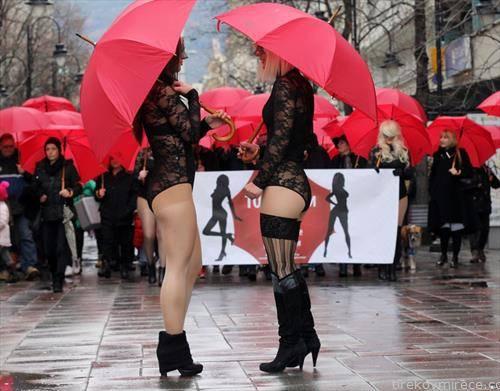 Марш на црвените чадори за правата н а сексуaлните рабоници