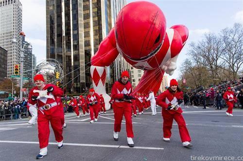и пауер ренџерс на парада на балоните
