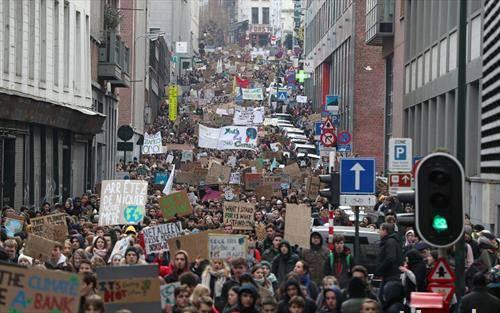 протест на белгиските студенти