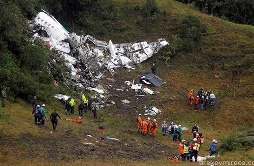 што остана од авионот, по несреќата во Колумбија