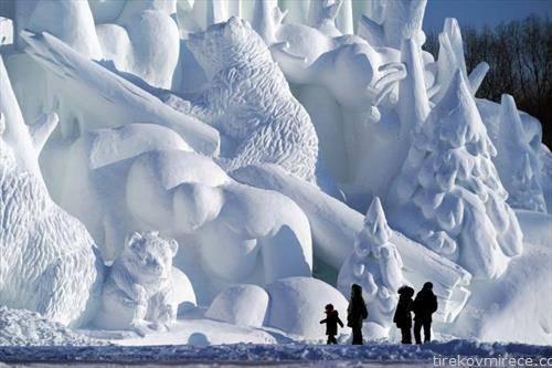 во кинески харбин е отворен најголемиот снежен град на светот