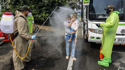 дезинфекција при влегување од Колумбија во Венецуела