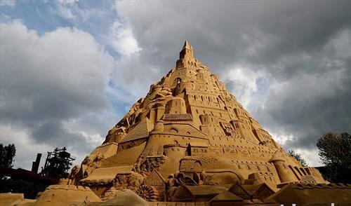 дворец од песок, во Кина