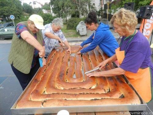 штрудла со афион, долга 20 м, подготвена во Зрењанин