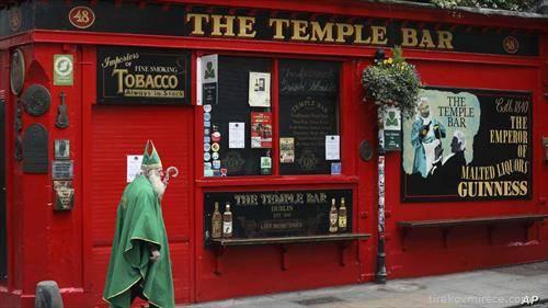 националниот празник на Ирците Св. Патрик мина со празни улици