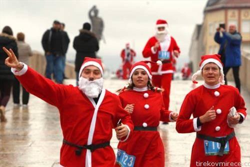 трка на дедо мразовци во скопје