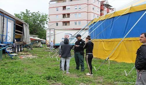 во Нови Сад се отстранува циркус, бидејќи бил без дозвола