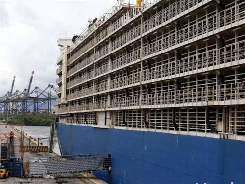прекуокеански брод кој превезува стока, живина