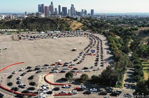 редици за тестирање во Лос Анѓелес