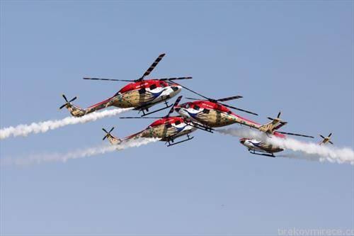 воена вежба на хеликоптерите на Индија