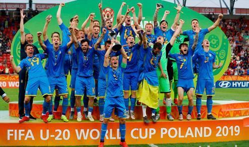 младите фудбалери на Украина, до 21 година се светски прваци