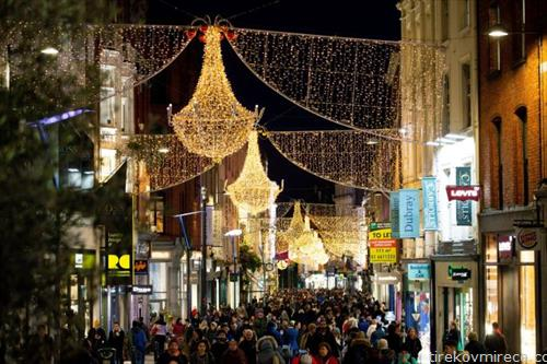 Даблин под новогодишно расположение