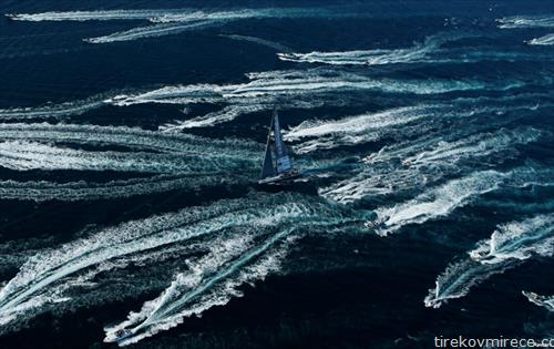регата на едрилици во заливот во Трст