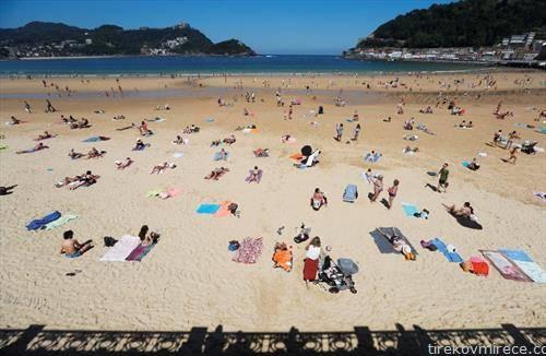плажата во сан себастијан Шпанија