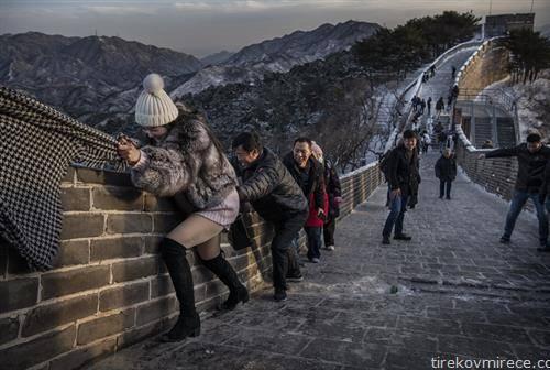 кога кинескиот ѕид е подмрзнат