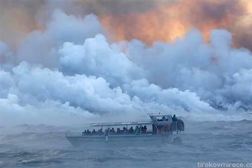 по експлозијата на вулкан на Хаваите