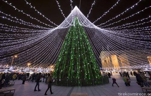божикно дрво во Вилнус Литванија