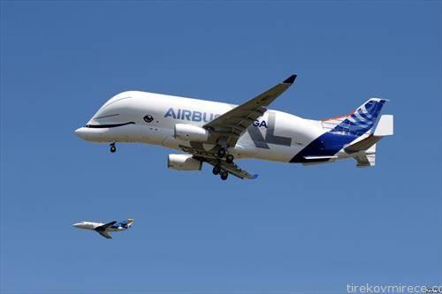 транспортниот авион на Ер бас  на прв комерцијален лет
