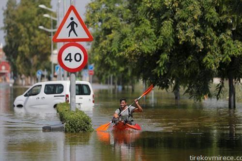 поплава во аликанте, Шпанија
