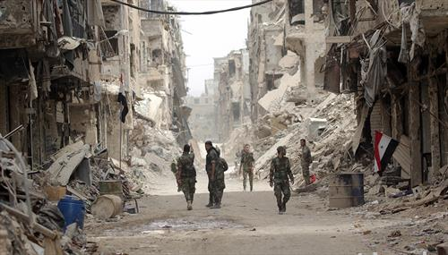 сирија ослободена и разрушена