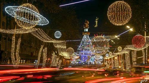 Тбилиси, Грузија, новогодишно
