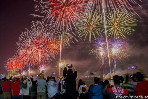 Њујорк   огномет за прослава на 46 роденден  на Емиратите
