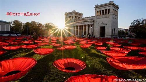 уметничка инсталација за 100 години од авршуваето на Првата светрска војна, булки за секој починат
