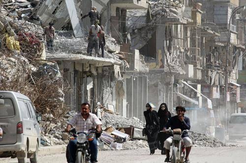 рака опустошен град во Сирија