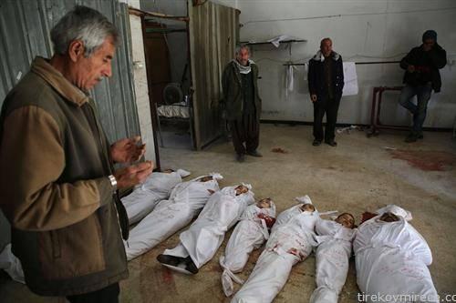 тела на мртви деца во Арбина сирија