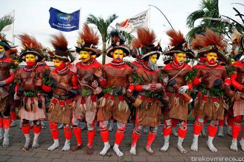 пречек на кинескиот претседател на Папуа Нова Гвинеја 1