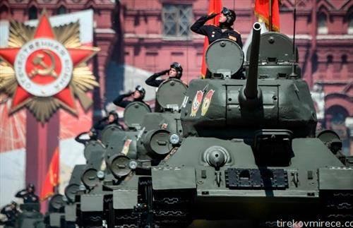 воена парада со задоцнување во Москва, за денот на победата