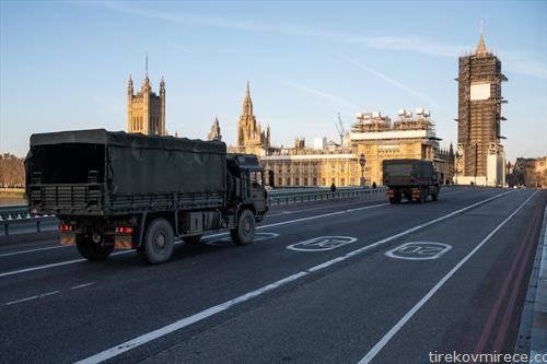празни се улиците во  Лондон