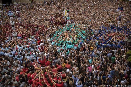 кула од луѓе, во Барселона