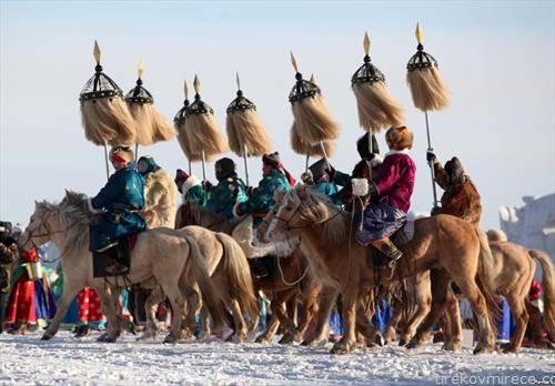 зимски игри на традиционални спортови во Монголија