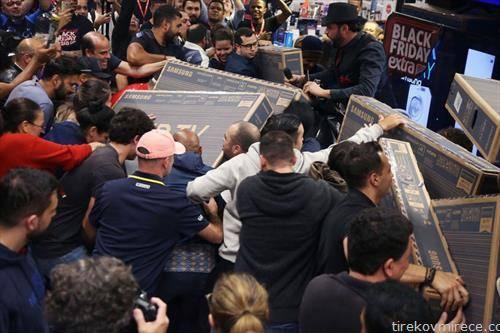 тепачка за купување за црн петок,  во Рио, во Бразил