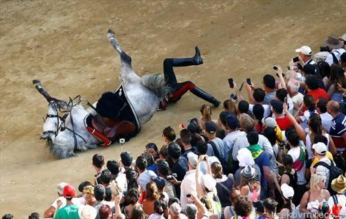 виршли   пад на коњска трак во Италија