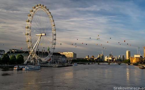 балони на топол воздух на трка во Лондон