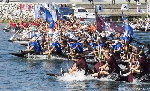 на неретва се одржа трка на чамци на која учествуваа 28 посади