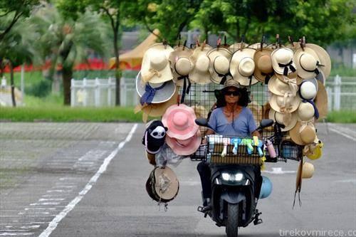 продавачка на шешири во Тајван