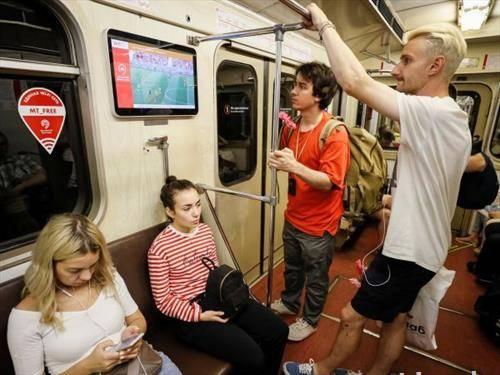 Во Англија СП се следеше и во метро