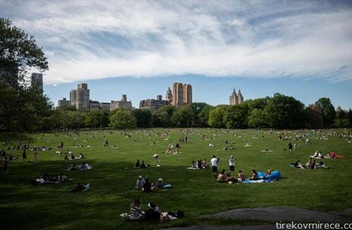 централ парк во Њујорк во време на ковид 19