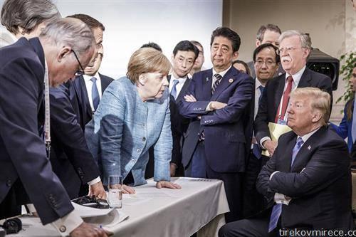 самитот на најразвијните Г-7, ситеа над трамп