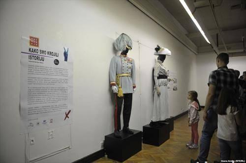 изложба на костими во белградски музеј, насловена ,,како ја креовме историјата,,
