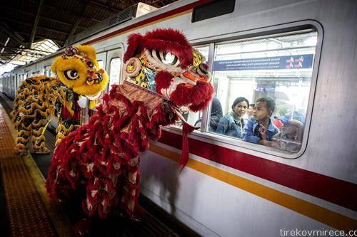 дочек на кинеска нова година во Џакарта Индонезија