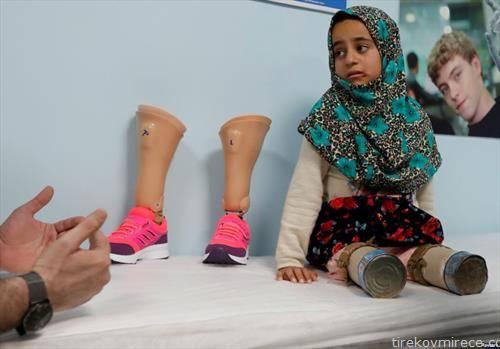 девојче без нозе, од Сирија по војната