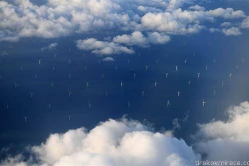 ветерници за производство ан струја во Ирското море