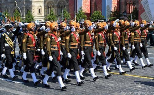 индиската војска беше учесник на парадата во москва